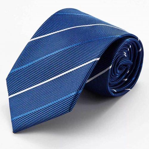 Blue Herringbone