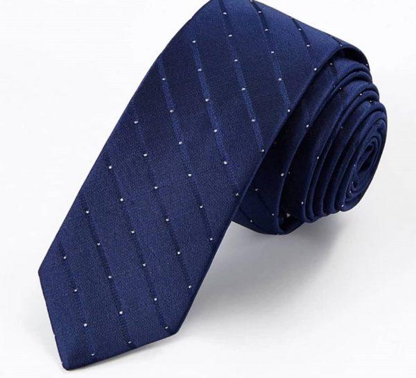 Blue Shadow Stripe w. Pin Dots